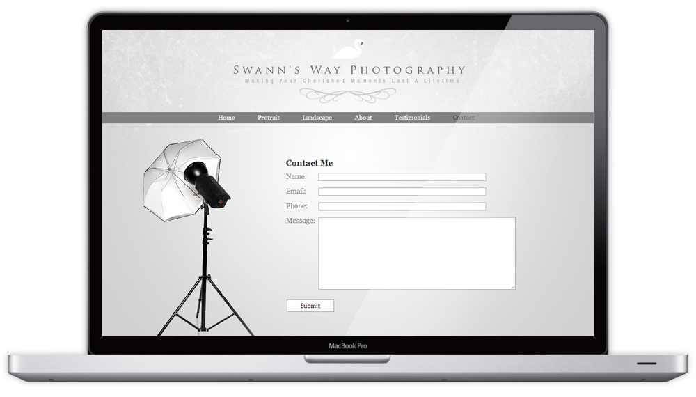 Swann's Way Photography Website Contact Us