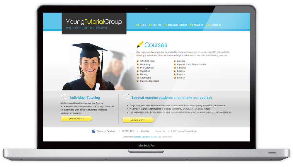 Yeung Tutorial Group Courses Page